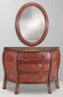 Cardinal Console & Mirror